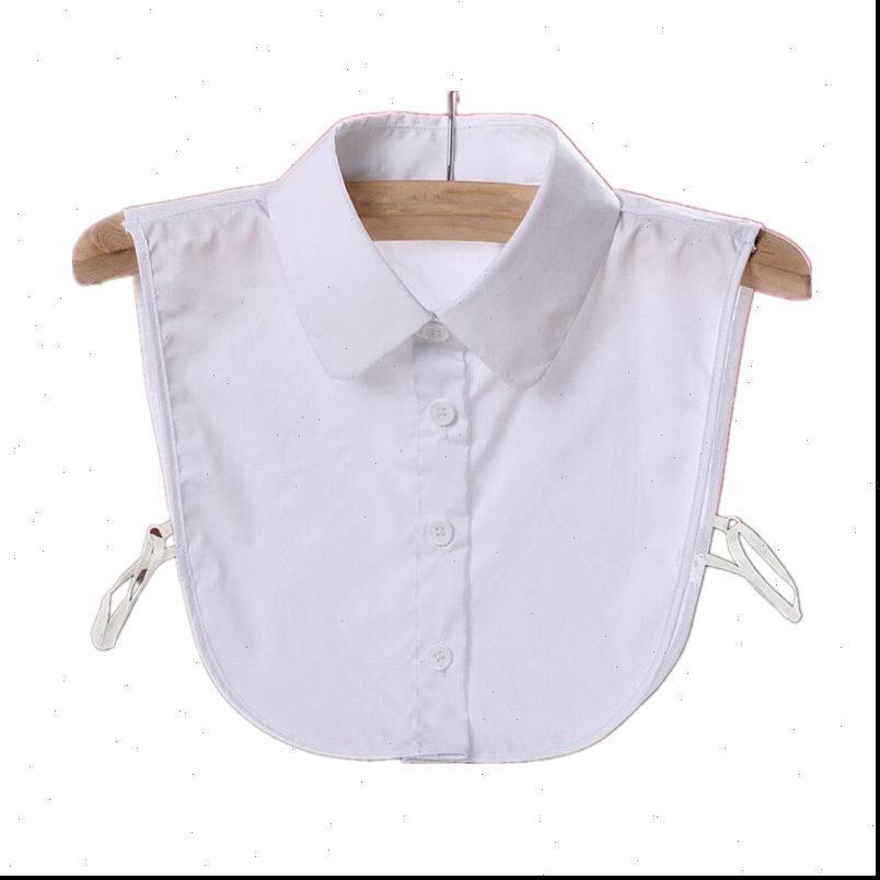 Blusas Camisa Mujeres Fake Cuello Vintage Faux Camisa Corbata Cordón de encaje Cuello desmontable Damas Tops Camisa blanca Cuello falso Q1124