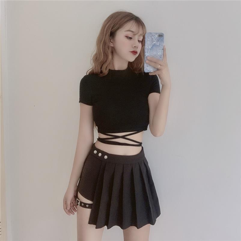 Sexy Jeans Casual Denim Womens Shorts Skirt Hollow Out Bandage Punk High Waist Slim