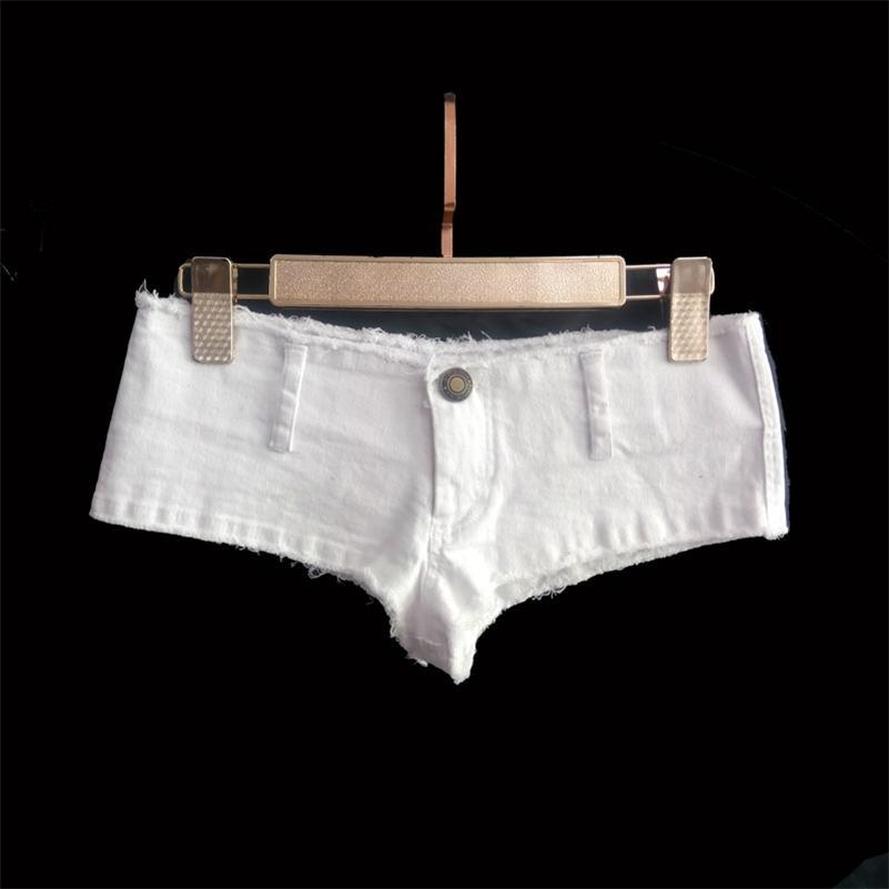 Donne sexy nappa a vita bassa a vita calda short sexy denim booty sexy jeans pantaloncini vintage carino micro mini corto club usura plus size 210301