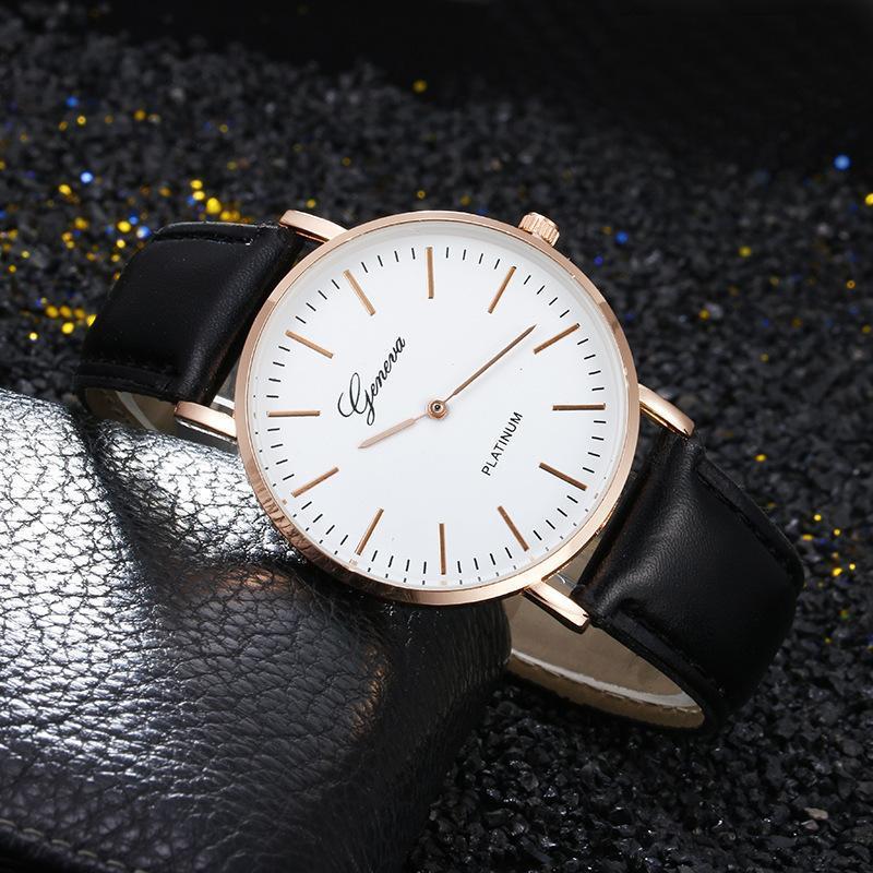 Relojes de pulsera Hombres y mujeres Relojes Estudiante Reloj de cuarzo Casual Slim Malla Acero Impermeable Relogio Masculino