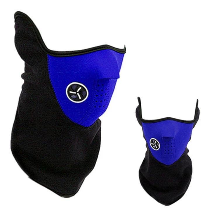 Bicycle Cycling Motorcycle Half Face Mask Winter Warm Outdoor Sport Ski Mask Ride Bike Cap CS Mask Neoprene Snowboard Neck Veil Mk881