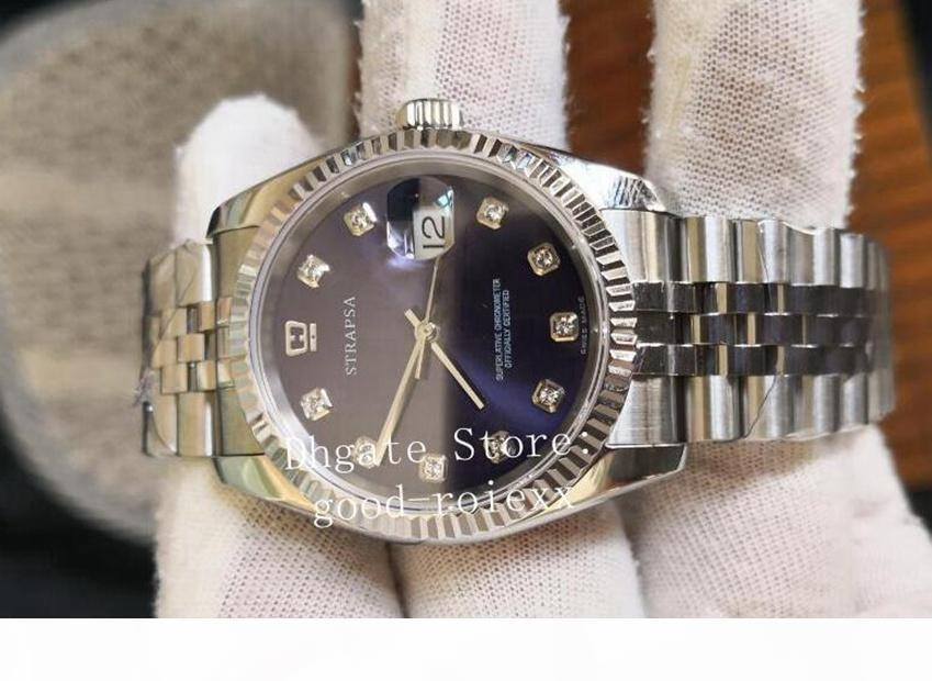 Mens de montre de style 36mm Automatique 2813 Jubilee Bracelet BP Factory Version V2 Montres 126234 Date de 126200 Mère de Pearl Wristwatches