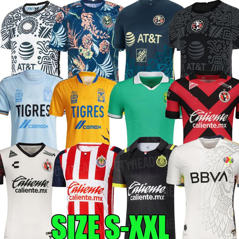 Liga MX All Star 21 22 22 Club América Futebol Jerseys 2021 2122 Unam Rayados Monterrey Leon Uanl Tigres Chivas Guadalajara Xolos Tijuana Curz Azul Futebol Camisas Tops