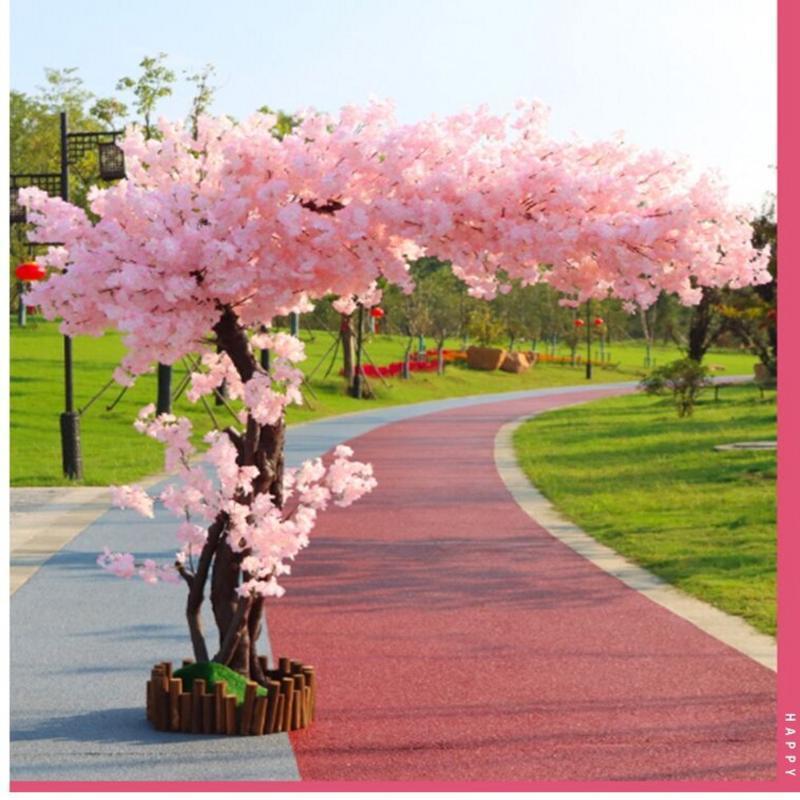Dekorative Blumen Kränze Künstliche Kirschbaum Landung Simulation Blume Ornamente Große Pfirsich El Hochzeitsdekoration Home