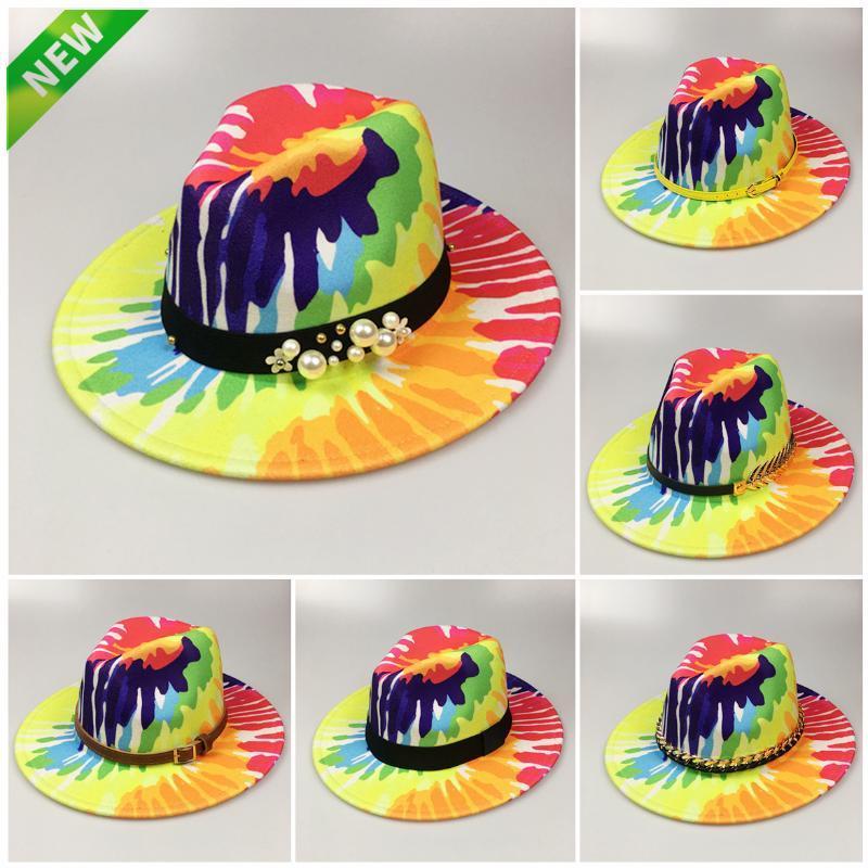 Широкие шляпы Breim Hats Green Teas Team Fedora Hat женская мода плоская Панама с поясом шерсть войлот джаз для мужчин оптом