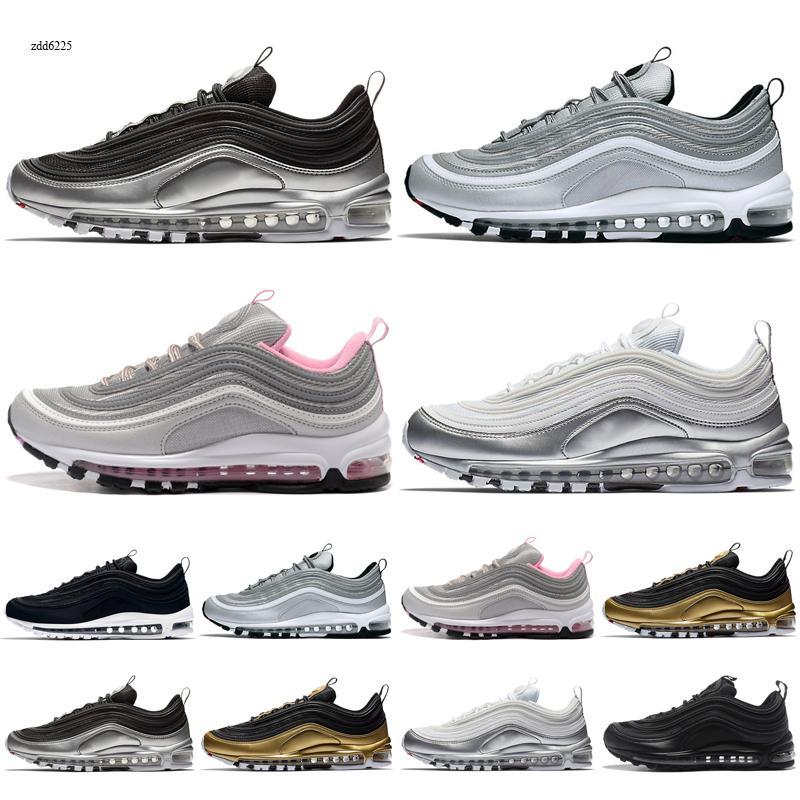 max 97 Novos sapatilhas Aurora Verde Jesus Crianças Shoes Triplo Black White Multi Sliver Bullet Sean Mens Sports Sneakers EUR 28-35