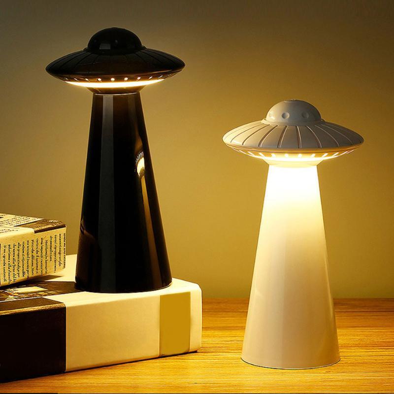 UFO Design Lampe de table à LED rechargeable USB Dimmable Lecture sans scintillement Smart Night Lamp Lampadaire Étudiant Enfants