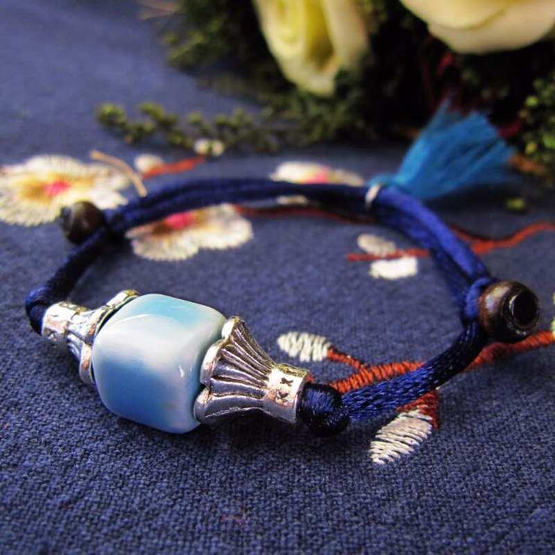 Charme Bracelets Style chinois 6 Couleur Couleur Forme Céramique Femmes Bracelet à la main Dames Bijoux Cadeau YBR114