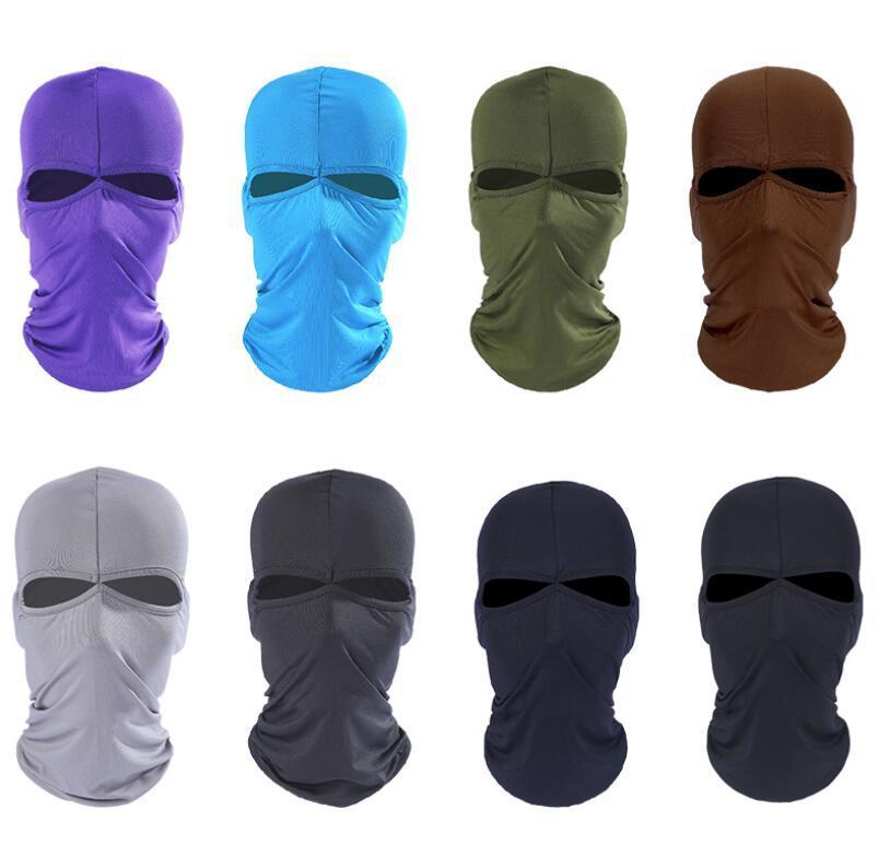 Outdoor Sports Neck Face Mask Tactical Balaclavas Cycling protective Ski Masks Bicycle Cycling Balaclava Caps Motorcycle CS Windproof Dust Head Sets