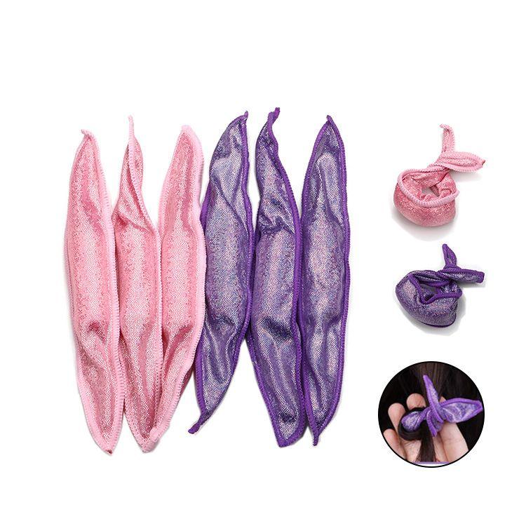 Weiche Haarpflege Walze flexible Schaumhaar-Lockenwickler Kein Hitze Kein Clip Schlaf Haar Curling Styling DIY Styling-Werkzeuge