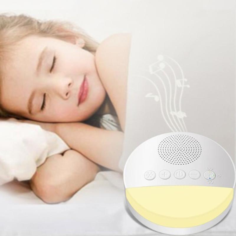 Gece Işıkları Beyaz Gürültü Uyku Enstrümü Işık Solunum Bebek Yardımı Cihaz Müziği ile