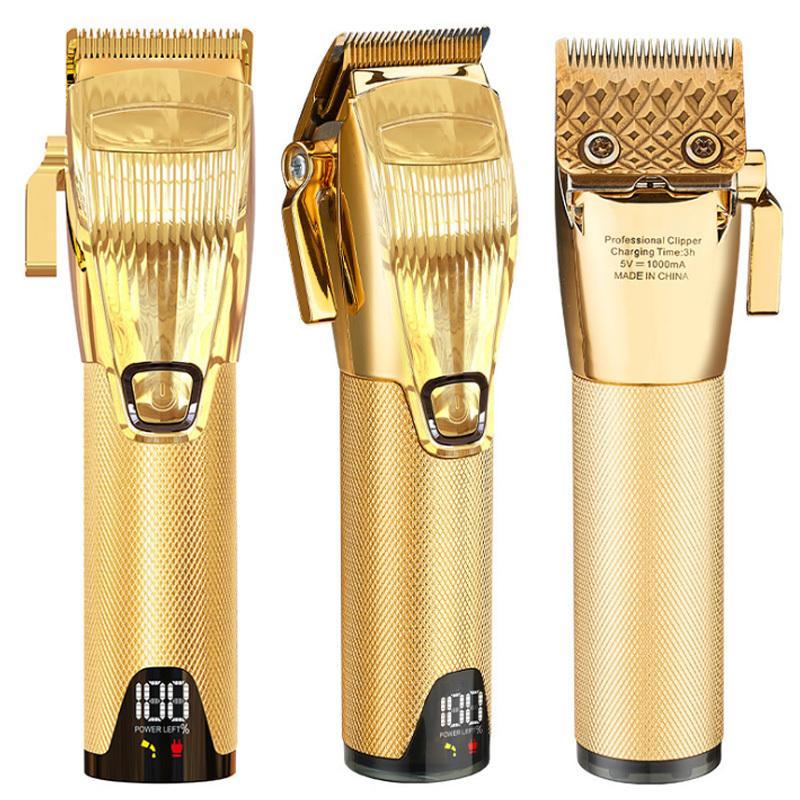 Erkekler için Saç Düzeltici Profesyonel Saç Kesme Makineleri Razor USB Şarj Edilebilir Saç Kesici Sakal Tıraş Kuaför Eletrik Kesme Makinesi 210302