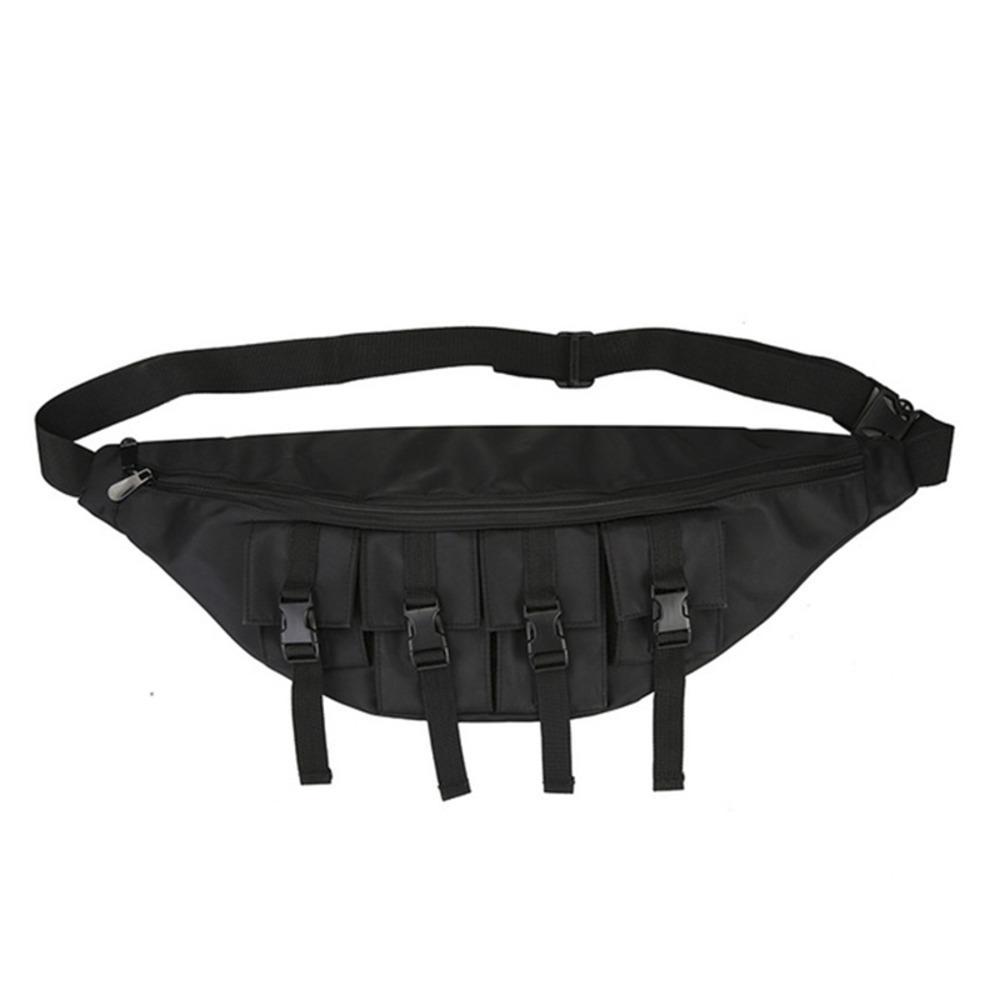 Men Large Chest bag Waterproof Fashion waist Pack Outdoor Sport Crossbody Bag Casual Multi-pocket Travel Male Bum Belt Bag C0305