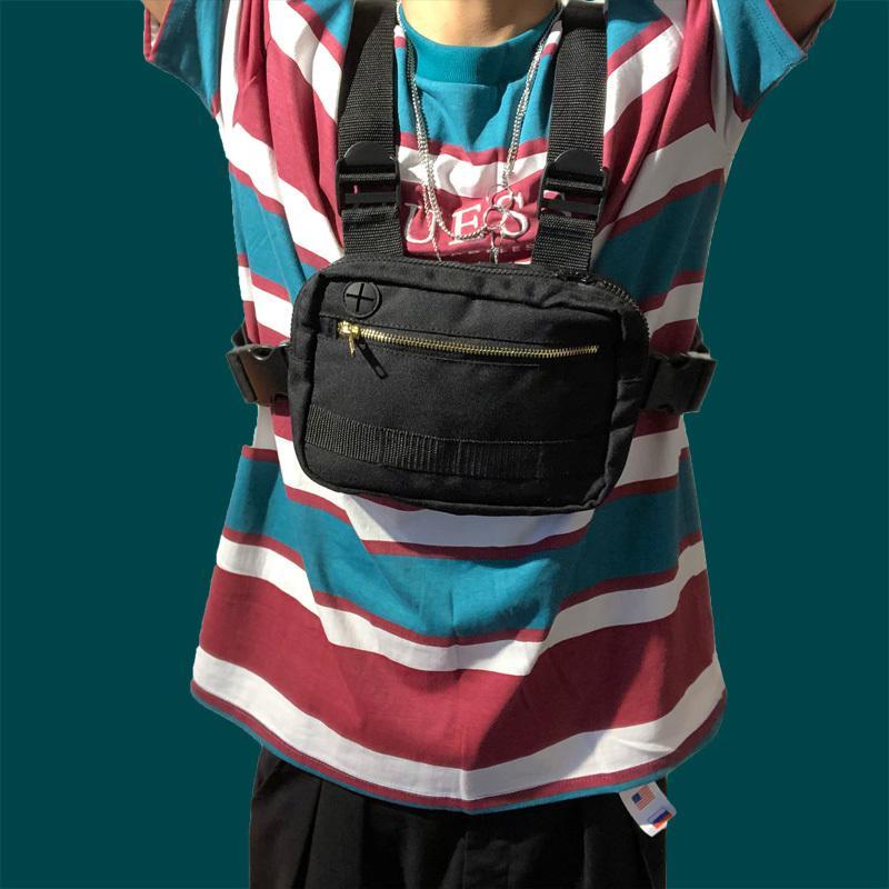 2020 Mini Men Chest Rig Streetwear Outdoor Sports Waist Bag Military Climbing male waist bag Phone Money Belt Tactical Chest Bag C0305
