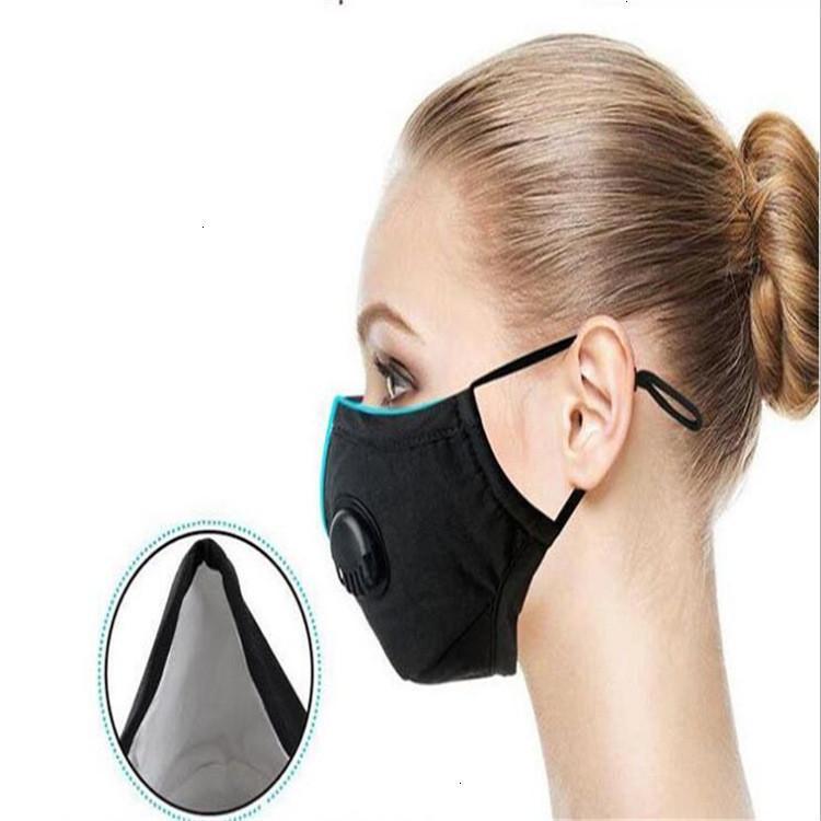 Masques lavables anti-poussiéreux coupe-vent réutilisables Remplacement de la vanne de filtre Respirateur Respirateur Coton Face Masque Free DHL