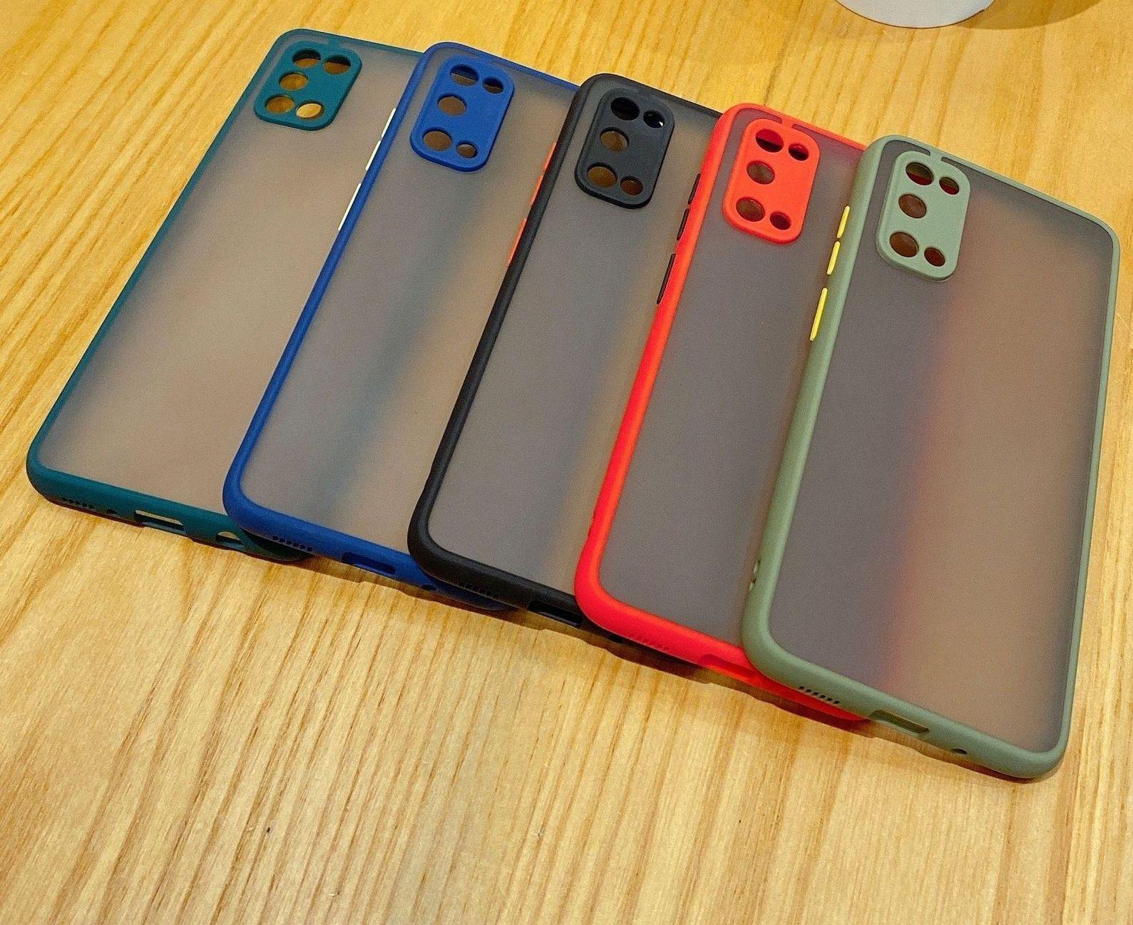 Pelle sensazione di protezione degli occhi Hybrid TPU + PC Casi opaco Cover per Samsung Galaxy M31 M51 M30S M31S Nota 20 Ultra 100pcs / lot