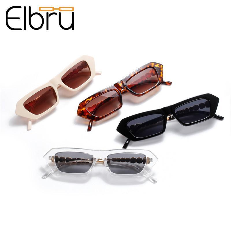 Güneş Gözlüğü Elbru Kadınlar Yarım Metal Inci Kare Retro Gözlük Çerçeve Lüks Moda Gözlükler