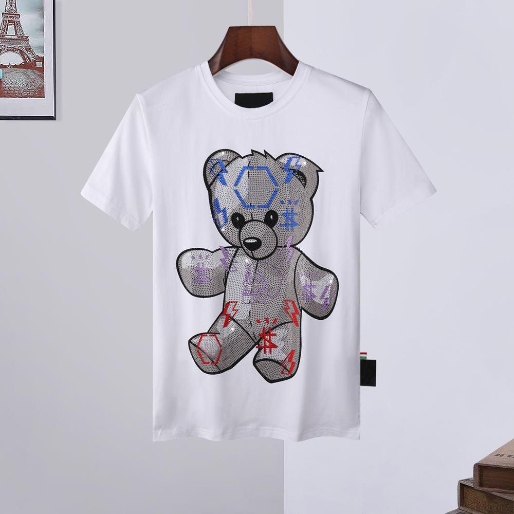 21fw homens mulheres desenhador camiseta Luxo branco fora de Phillip liso camisa camisa hoodies casacos mola manga curta crânio diamante tops sacos 16