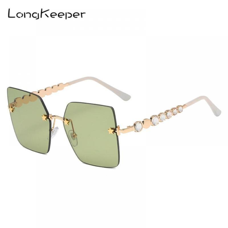 Sunglasses Oversized Square Diamond Women Designer Rhinestone Sun Glasses Fashion Female Shades