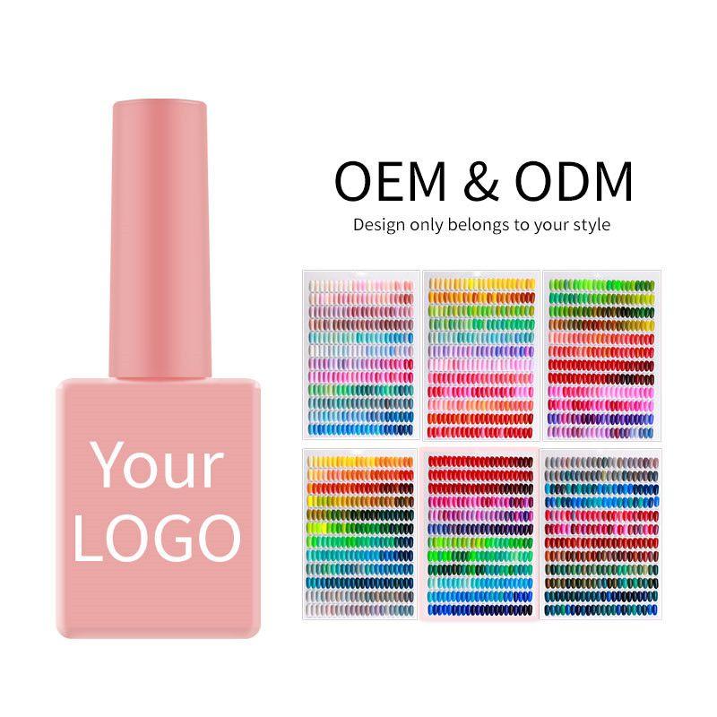 5000 Farbe UV Gel Gute Textur Schnelltrocknung langlebiger freier Probe Einweichen LED15ML Nagellack Set