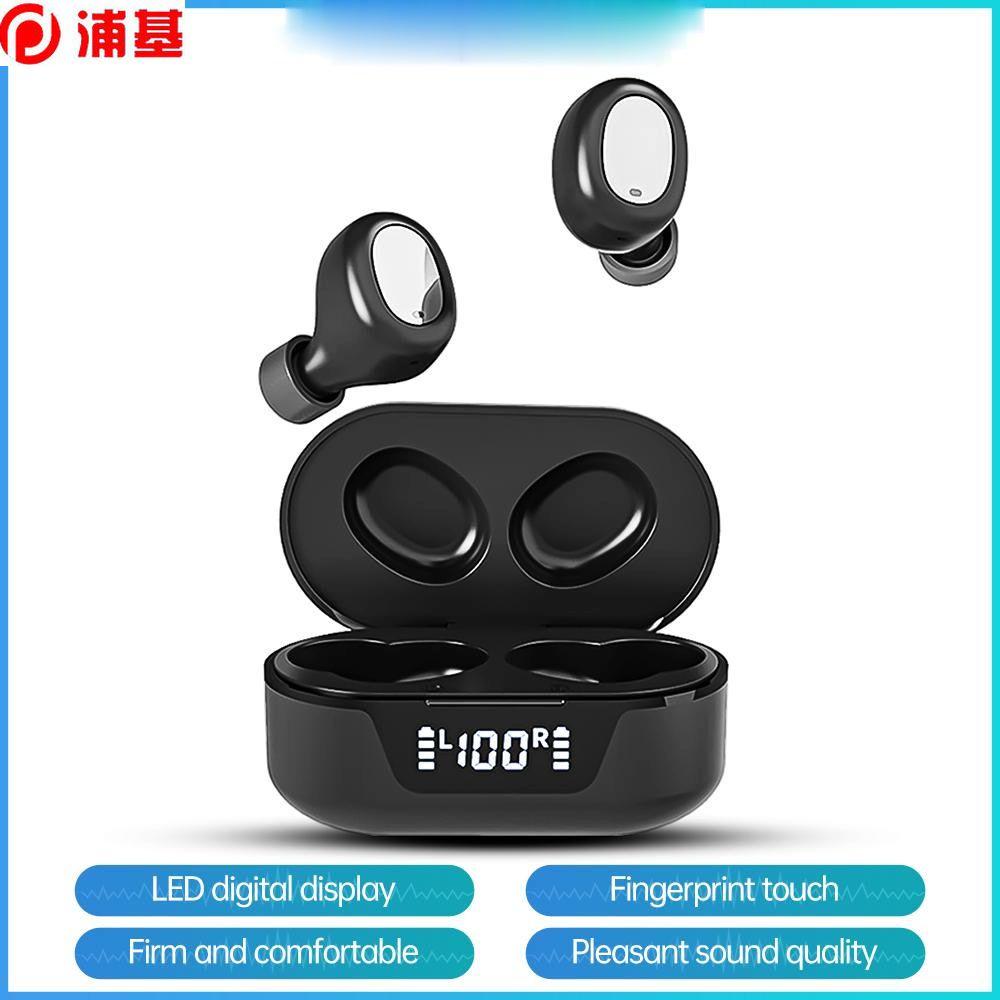 Auricolare wireless Bluetooth 5.0 Auricolare in-ear Sport Sport Mini Auricolari impermeabile con microfono Game Touch LED Display HD KOEX TW16