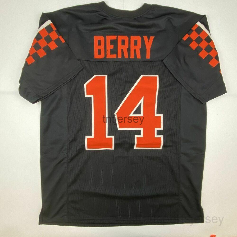 Billig benutzerdefinierte neue Eric Berry Tennessee Black College genäht Fußball Jersey genäht Hinzufügen von Namensnummer
