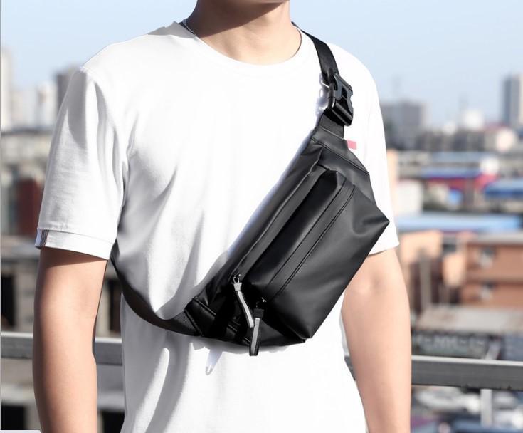 Мужчины спортивные талии сумки водонепроницаемые мода сумок на груди 32см широкий объем громкости на открытом воздухе на открытом воздухе заводской прямой One PC оптом