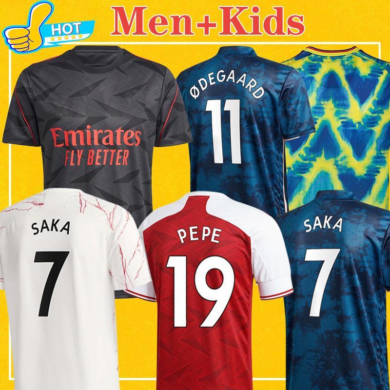 Acquista Arsenal 424 Maglia Da Calcio Gunners 2020 2021 Arsen PEPE SAKA TIERNEY NICOLAS CEBALLOS GUENDOUZI 20 21 Maglia Da Calcio 4XL Men Kids Kit A ...