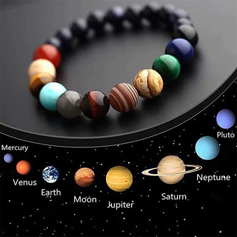 Galaxy huit planètes BRACELET BRACELET HOMMES NATURE NATURE SYSTÈME SOLAR SOLAIRE YOGA CHAKRA bracelets pour hommes femmes bijoux 2019 160 Q2