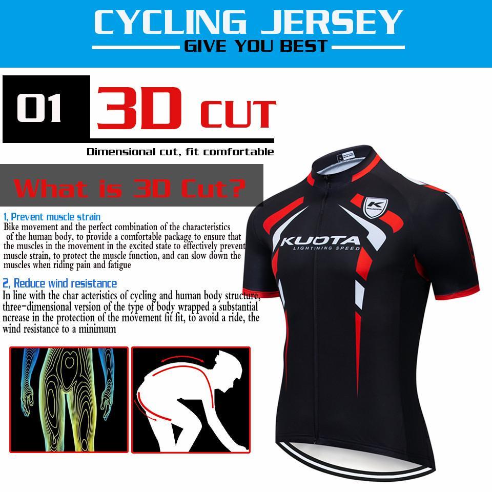 KUOTA 2021 Yeni Pro Takım Bisiklet Jersey Seti MTB Bisiklet Giyim Erkekler Yaz Hızlı Kuru Yarış Bisiklet Giyim Ropa Ciclismo Hombre