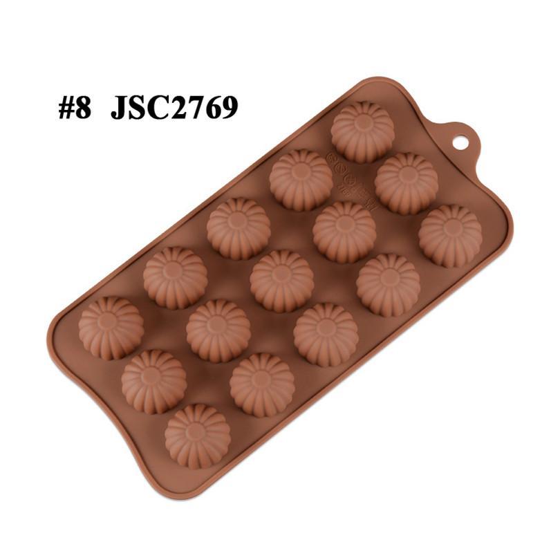 Çikolata Kalıpları Silikon Sıcak Kakao Bombaları Kalp Kalıpları Çikolata Şeker Kalıpları Için Silikon Şekiller Festivali Düğün Partiler için Pişirme JSC276509