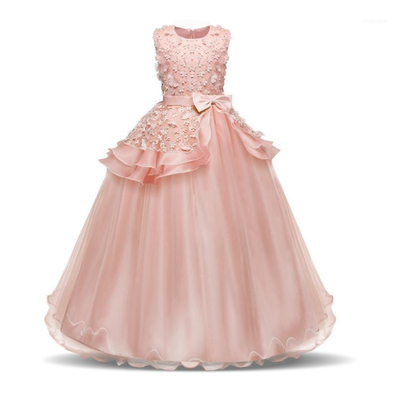 Девушка платья девочка Pageant формальная летняя вечеринка носить девушки на день рождения наряды подростка 8 14T крещений платье TUTU Boutique Dress1
