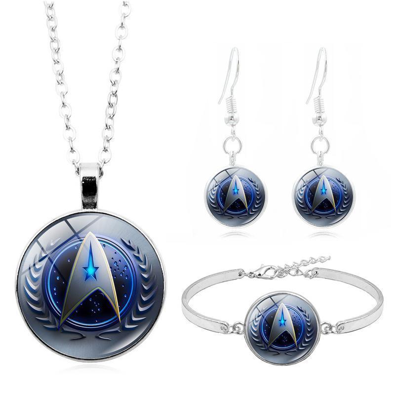 Filme Star Trek Foto Vidro Cabochão Moda Jóias Jóias Colar Bracelete Brinco Jóias Conjuntos Para As Mulheres Presentes