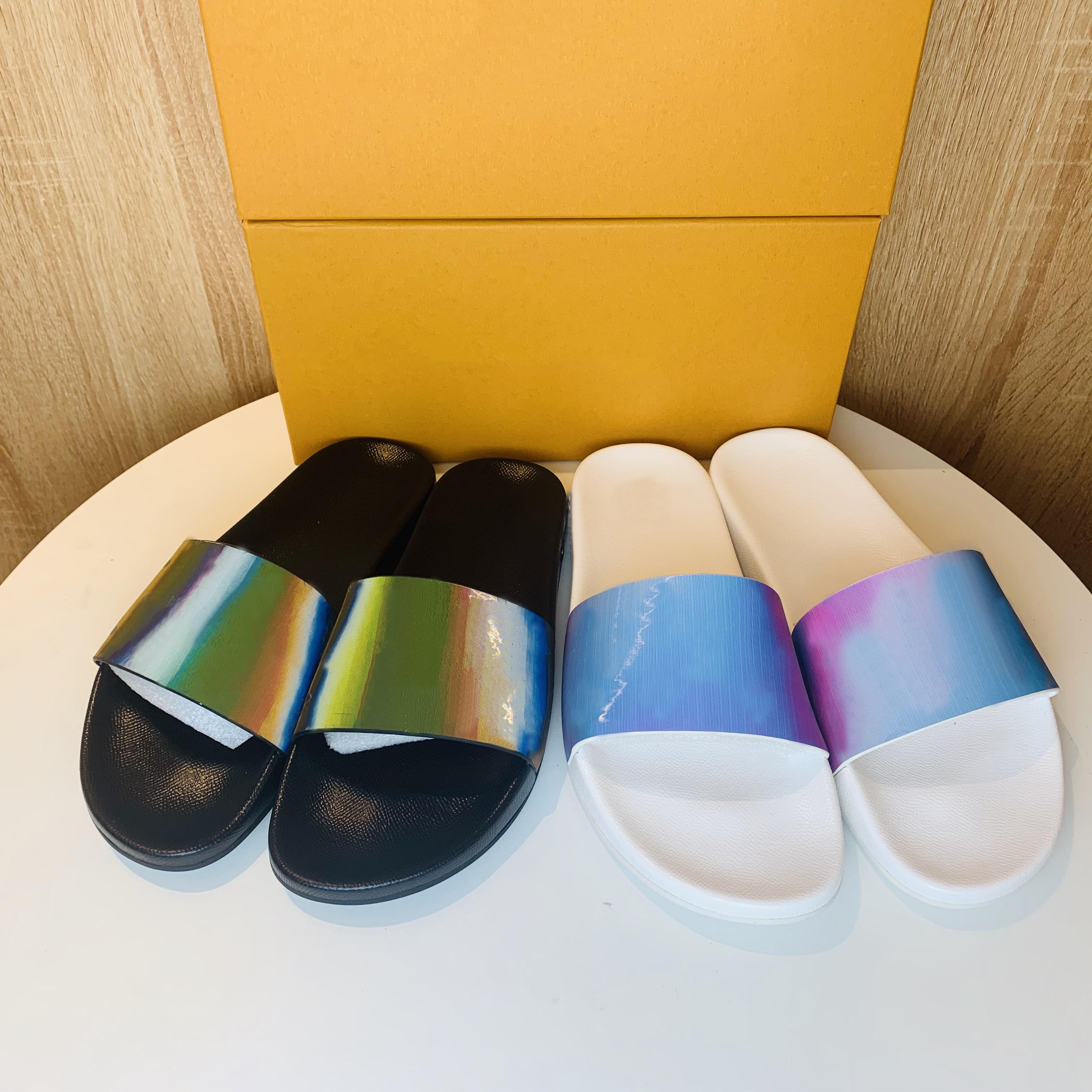Designer Flip Flops Mens Womens Summer Sandals Sandals Beach Slide Pantofole da donna Sandali Firmati da donna scarpe classiche laser colorato