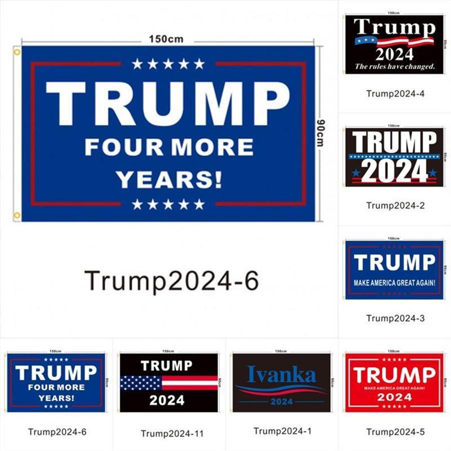 En stock Élection Trump 2024 Trump Gardez le drapeau 90 * 150cm America suspendu Great Bannières 3x5ft Digital Print Donald Trump Drapeau