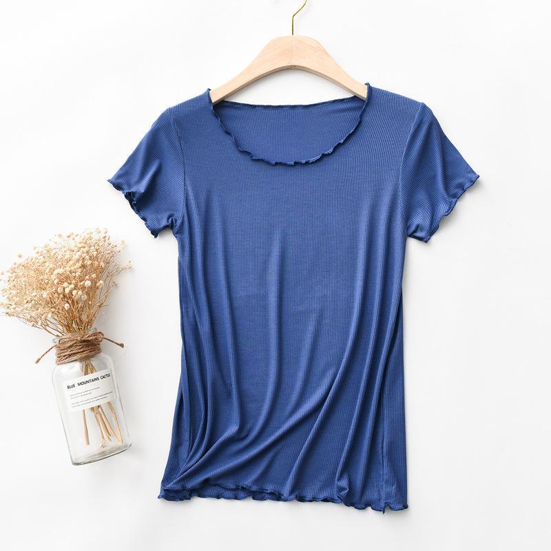 Herren T-Shirts 2021 Große Größe Halbschlauch Weibliche Modale Ohr Rundhalsmode Mode Fashion Slim Bottoming Hemd Trendy T-Shirt XBB07