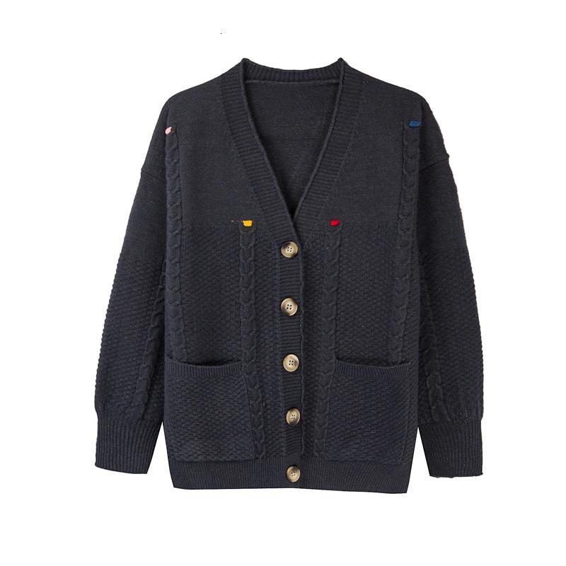2021 Yeni Yumuşak Örgü Kadın Hırka Yün Ceket Yüksek Kalite Kazak H00204 OYL5