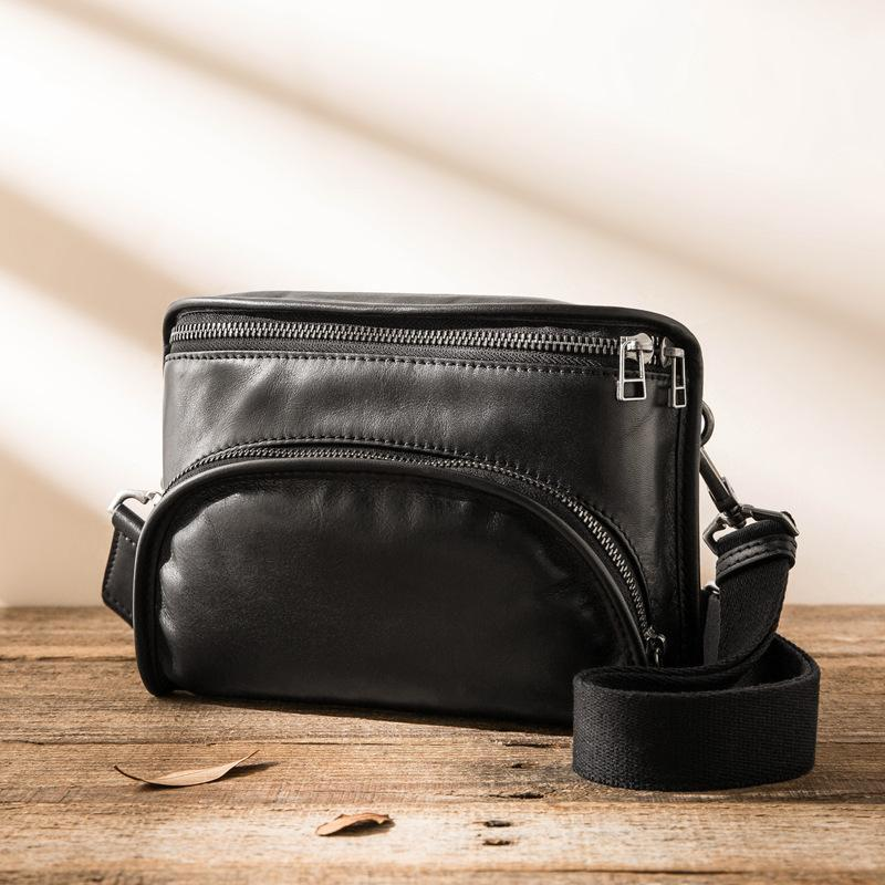 Briefcases Genuine Leather Made Korean Men's Bag All-Match Shoulder Fashion Brand Messenger First Layer Cowhide Casual