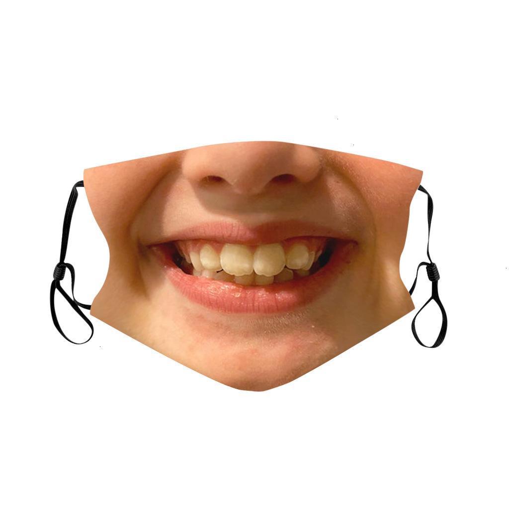 Impressão personalizada expressão facial poeira engraçada respirável máscara ajustável digital com núcleo interno