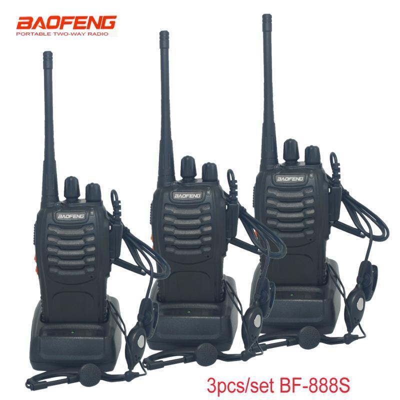 Walkie Talkie 3 Pcs/set Baofeng BF-888S 5W 16CH Portable Radio Station