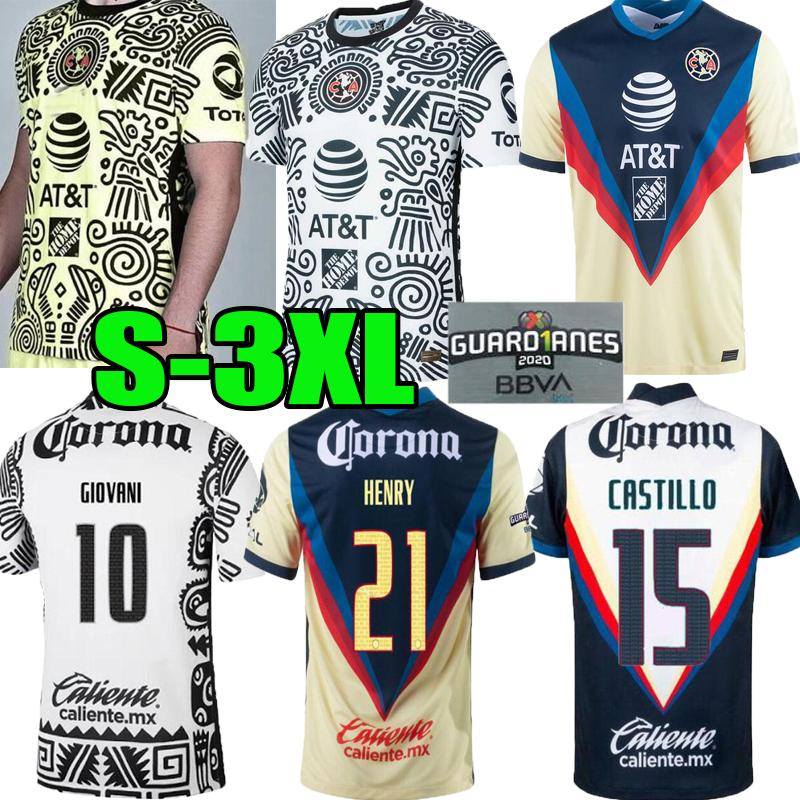 2021 2022 Liga MX Club América Terceiro Jerseys 20 21 Club América 3º Giovani Castillo Camisa de Futebol Kit Futbol Personalizado S-3XL