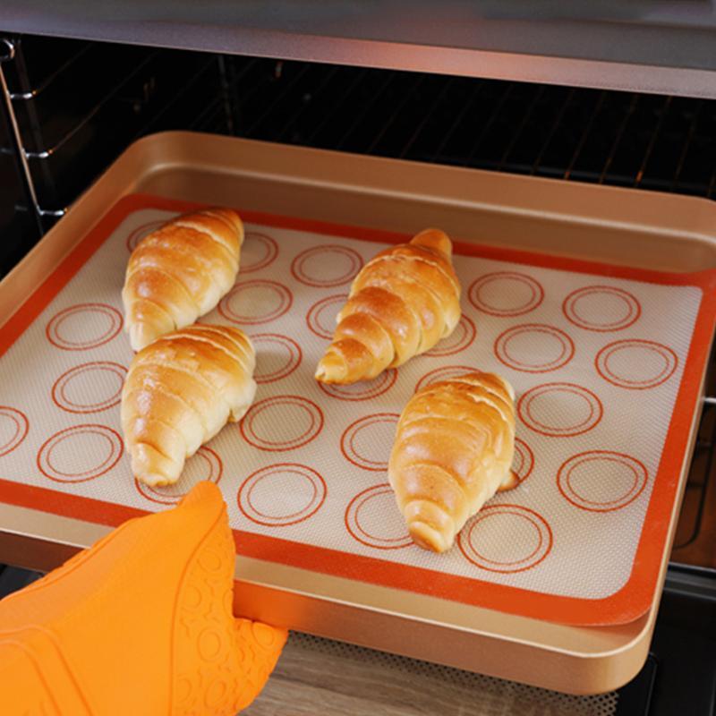 Punti di rolling Pins Pasticceria Macaron Macaron Silicone Pad Cottura Tappetino rotondo Forma FAI DA TE Cake Dessert Forno per forno Strumenti per torte accessori