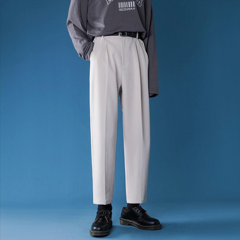 2021 Yeni erkek Slim Fit Rahat Iş Tasarım Pamuk Örgün Yüksek Kaliteli Pantolon Sosyal 4 Renkli Suit Pantolon Büyük Boy S-3XL RPF9