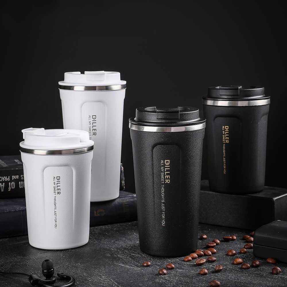 Стиль двойной нержавеющей стали 304 кофе кружка автомобиля термос утечки ThermoS thermo Cubmug для подарков 210615