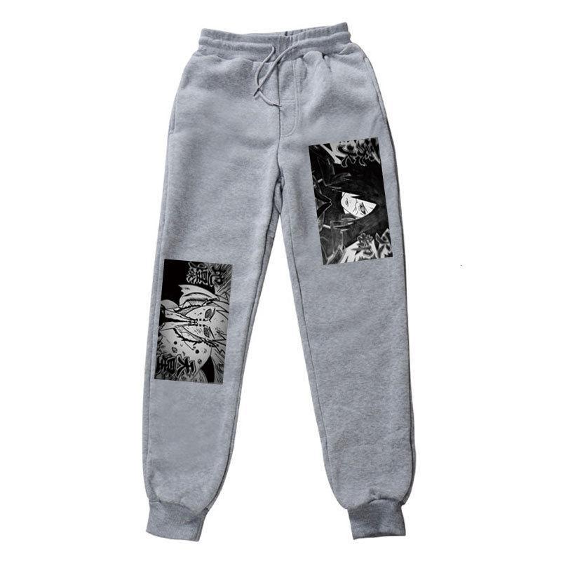 2021 Yeni Naruto Anime Harajuku Japon Uchiha Madara Akatsuki Erkekler Baskı Joggers Erkek Pantolon Rahat Sweatpants TP84