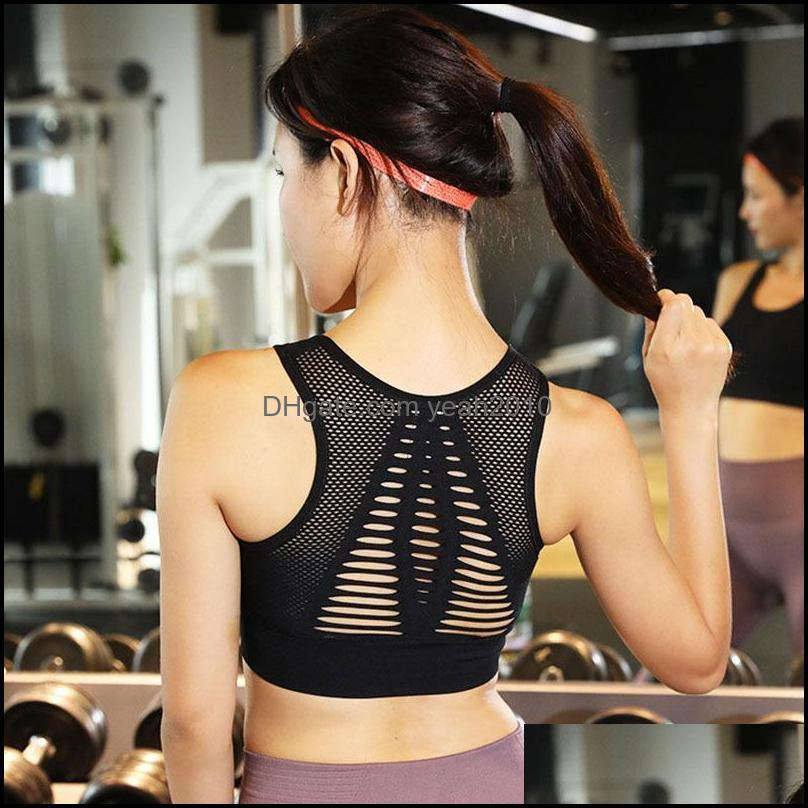 Outfits Wear Outdoor Apparel & Outdoorswomen Training Exercise Breathable Underwear Sha Yoga Vest Shockproof Quick Dry Sports Bra Fitness At