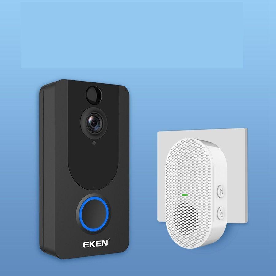 Eken V7 беспроводной видео дверной звонок камера 1080P CHIME PIR обнаружение движения срок службы срок службы бесплатный облачный сервис IP65 водонепроницаемый 2-х полос аудио 1 шт. / Лот