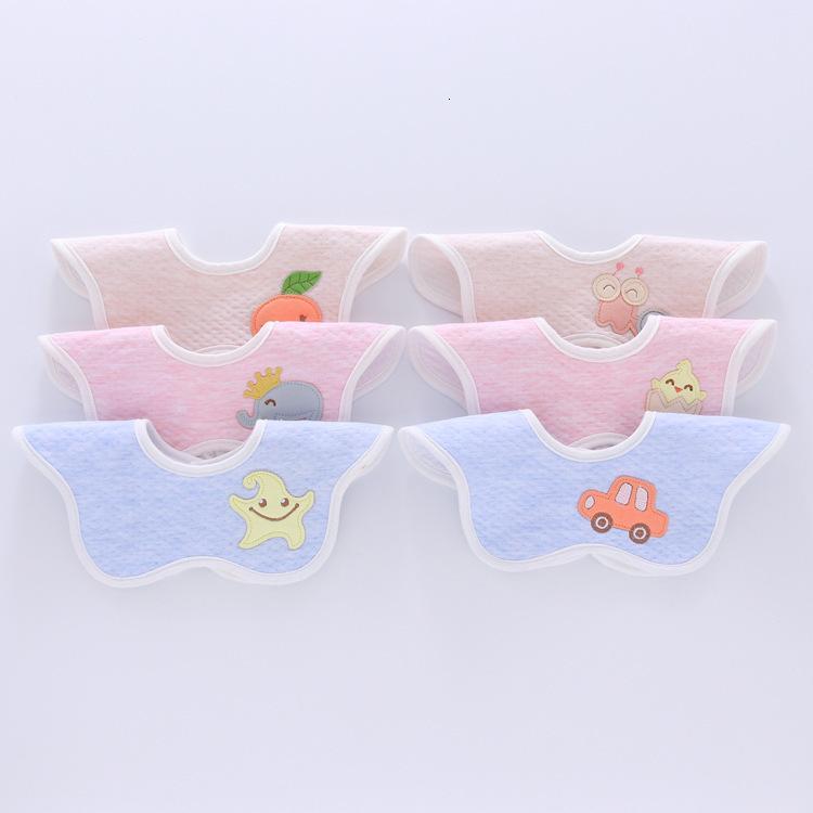 360 ° Rotation Blume Lätzchen Baumwolle wasserdichte Kinder Reis Tasche Baby Wassertuch