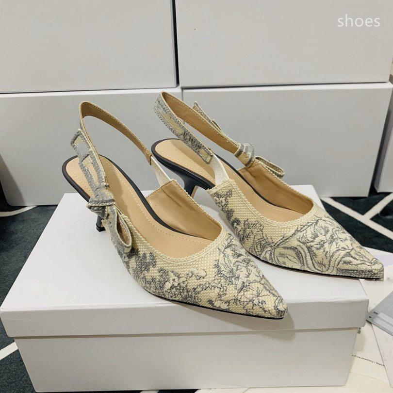 O novo 2021 vestido Shoes Party Office Universal High Saltos Moda Versátil Senhoras Sapatos de Luxo Designer Design 64R3