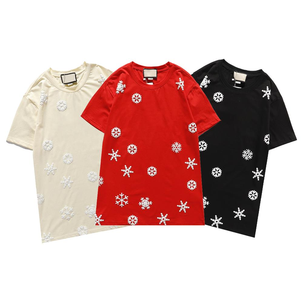 Women's Fashion Tshirt Casual Sports Snowflake Printed Letters Short-sleeved Summer Explosion Models Comfortable Women's Clothing 2021